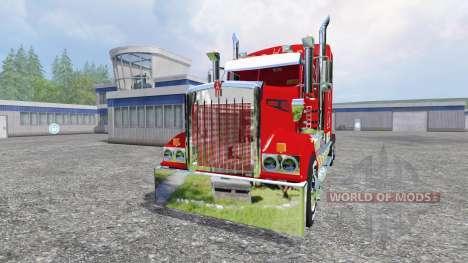 Kenworth T908 [Coca-Cola trailer] для Farming Simulator 2015
