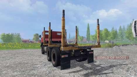 КамАЗ-55102 [лесовоз] для Farming Simulator 2015