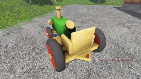 Деревянный трактор для Farming Simulator 2015