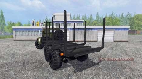 КрАЗ-255 В1 [лесовоз] для Farming Simulator 2015