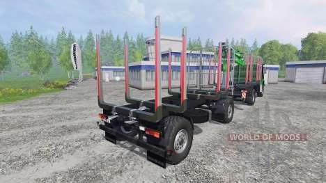 Mercedes-Benz Zetros 1833 [forest] v0.9 для Farming Simulator 2015