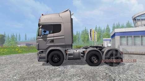 Scania R730 [Silver] v3.1 для Farming Simulator 2015