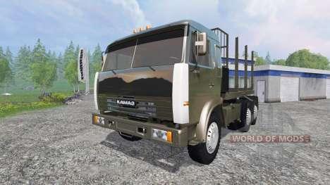 КамАЗ-54115 [лесовоз] v1.3 для Farming Simulator 2015