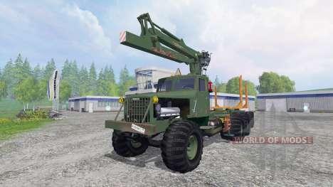 КрАЗ-255 В1 [лесовоз] v2.5 для Farming Simulator 2015