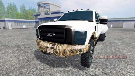 Ford F-250 [dually swamp camo] для Farming Simulator 2015