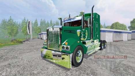 Kenworth T908 [John Deere] для Farming Simulator 2015