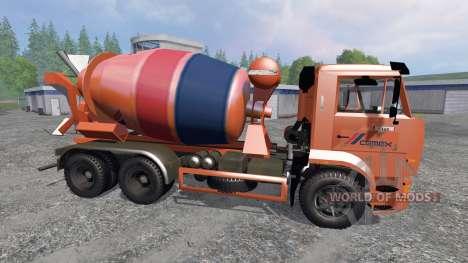 КамАЗ-6520 [миксер] для Farming Simulator 2015