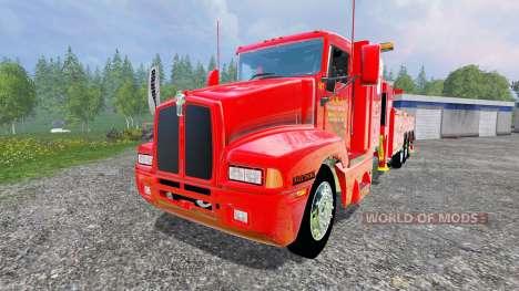Kenworth T600B [tow truck] для Farming Simulator 2015