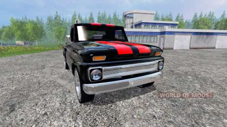 Chevrolet C10 Fleetside 1966 [tuning] v2.0 для Farming Simulator 2015