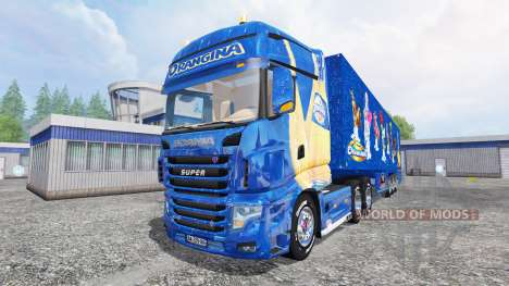 Scania R700 [Orangina] для Farming Simulator 2015