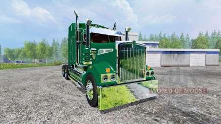 Kenworth T908 [John Deere trailer] v2.0 для Farming Simulator 2015