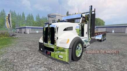 Kenworth T440 [flatbed] для Farming Simulator 2015