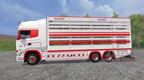 Scania R730 [cattle] v1.5 для Farming Simulator 2015