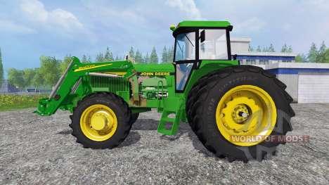 John Deere 4960 4WD FL для Farming Simulator 2015