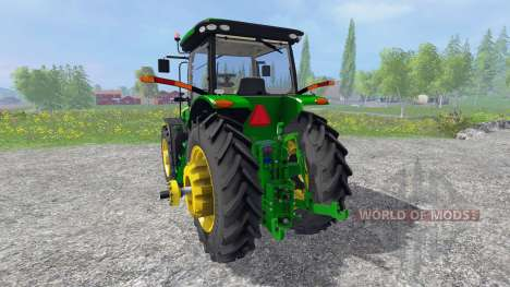 John Deere 8370R [Degelman silage blade] для Farming Simulator 2015
