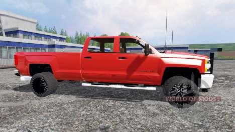 Chevrolet Silverado 3500 [plow truck] для Farming Simulator 2015