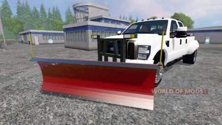 Ford F-250 [snow plow] для Farming Simulator 2015