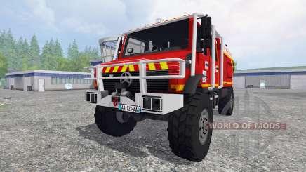 Mercedes-Benz Unimog [fire service] для Farming Simulator 2015