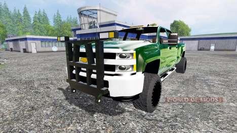 Chevrolet Silverado 3500 [plow truck] v2.0 для Farming Simulator 2015