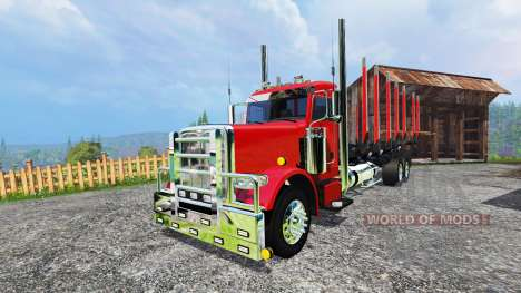 Peterbilt 388 [log truck] для Farming Simulator 2015