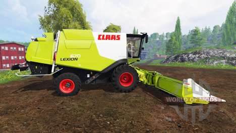 CLAAS Lexion 670 v1.2 для Farming Simulator 2015