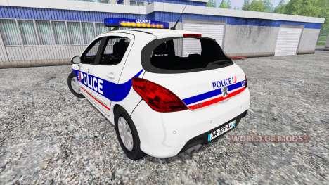 Peugeot 308 Police France для Farming Simulator 2015