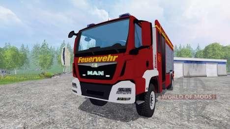 MAN TGM 14.250 Firetruck [blaulicht] для Farming Simulator 2015