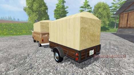 Volkswagen Transporter T2B [trailer] v1.2.1 для Farming Simulator 2015