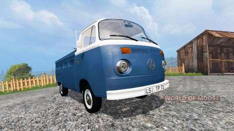 Volkswagen Transporter T2B 1972 v1.0 для Farming Simulator 2015