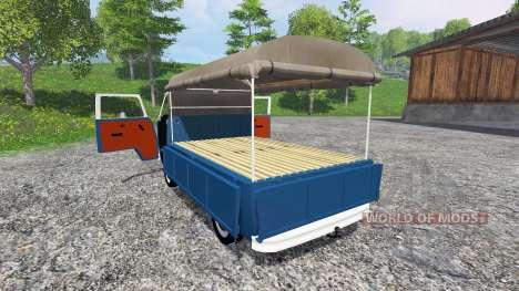 Volkswagen Transporter T2B 1972 v1.1 для Farming Simulator 2015