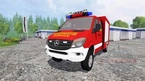 Mercedes-Benz Sprinter 316 [feuerwehr] v2.0 для Farming Simulator 2015