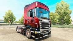 Скин Red Scorpion на тягач Scania для Euro Truck Simulator 2