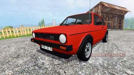 Volkswagen Golf I GTI 1976 v1.1 для Farming Simulator 2015