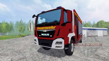 MAN TGM 14.250 Firetruck [blaulicht] для Farming Simulator 2015