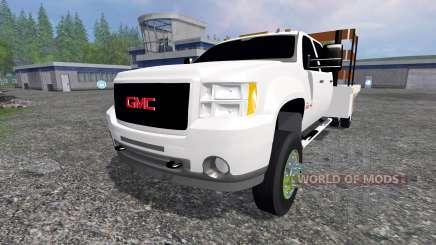 GMC Sierra 3500 [flatbed] v2.0 для Farming Simulator 2015