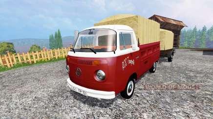 Volkswagen Transporter T2B [trailer] v1.1 для Farming Simulator 2015
