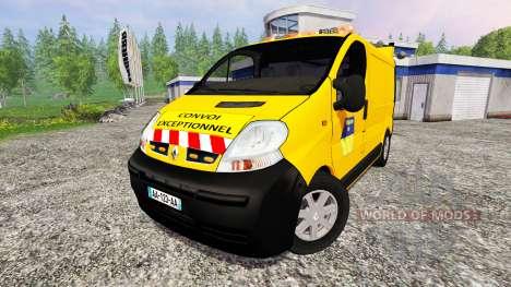 Renault Trafic Convoi Exceptionel для Farming Simulator 2015