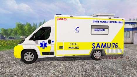 Peugeot Boxer SAMU для Farming Simulator 2015
