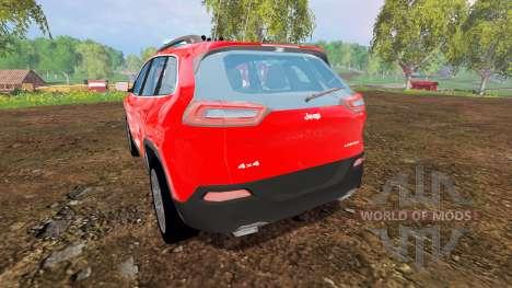 Jeep Cherokee KL 2014 [feuerwehr] для Farming Simulator 2015