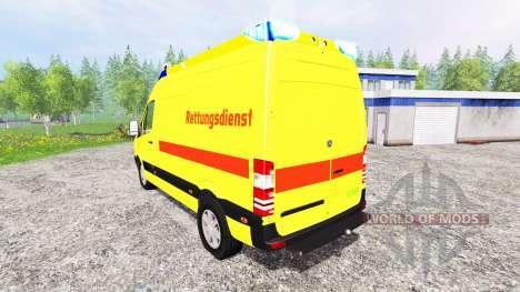 Mercedes-Benz Sprinter Ambulance для Farming Simulator 2015