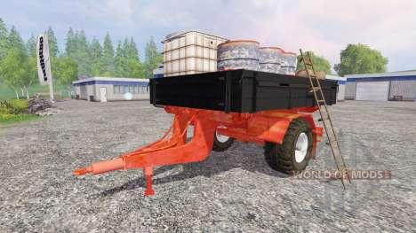 Одноосный прицеп обслуживания для Farming Simulator 2015