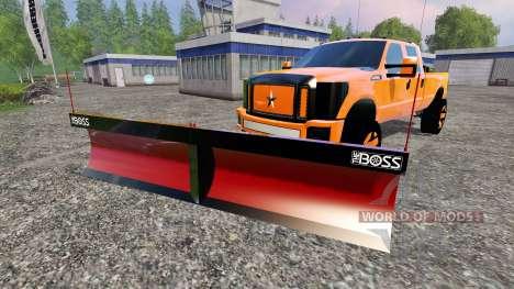 Ford F-250 [V-plow] для Farming Simulator 2015