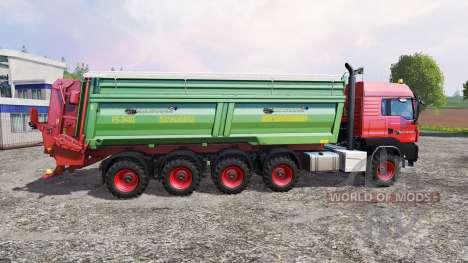 MAN TGS 10x8 [manure] для Farming Simulator 2015