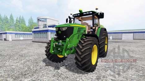 John Deere 6210R v2.0 [real run sound] для Farming Simulator 2015
