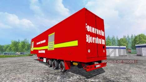 Полуприцеп Feuerwehr Bjornholm Einsatzleitung для Farming Simulator 2015