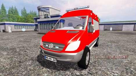Mercedes-Benz Sprinter ELW для Farming Simulator 2015
