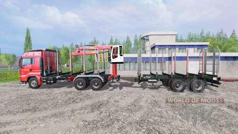 MAN TGS 33.440 [forest] v0.7 для Farming Simulator 2015