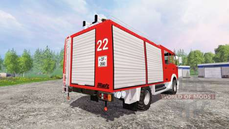 Mercedes-Benz 1222 [feuerwehr] для Farming Simulator 2015