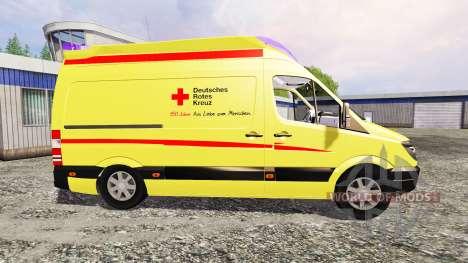 Mercedes-Benz Sprinter Ambulance v2.0 для Farming Simulator 2015