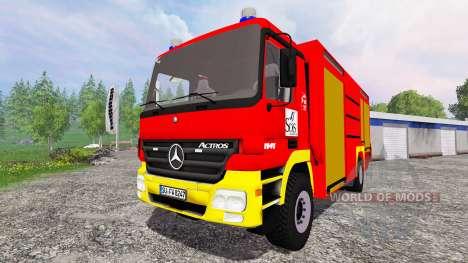 Mercedes-Benz Actros 4141 [feuerwehr] для Farming Simulator 2015
